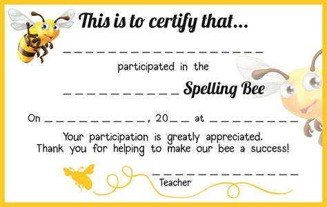 search results for free printable spelling bee