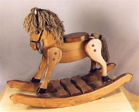 classic heirloom wooden rocking horse handcrafted