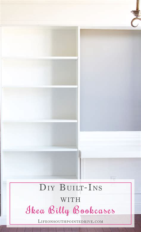 diy ikea built in bookcase diy built ins with ikea billy bookcases life on