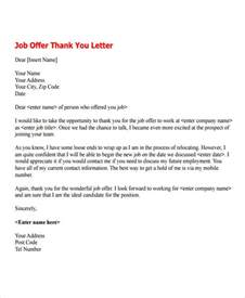 Offer Letter Details 7 Offer Thank You Letter Templates Free Sles Exles Format Free