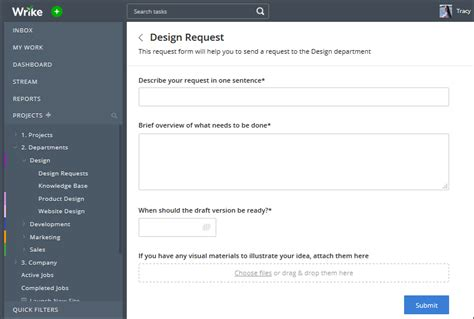 wrike templates request forms submit a form wrike help portal