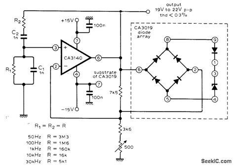 diode stabilised wien bridge oscillator wien bridge oscillator with zener diode limiter circuit 28 images wien bridge oscillator