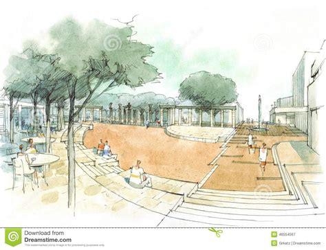 Landscape Forms Towne Square Town Square Stock Illustration Image 46554567