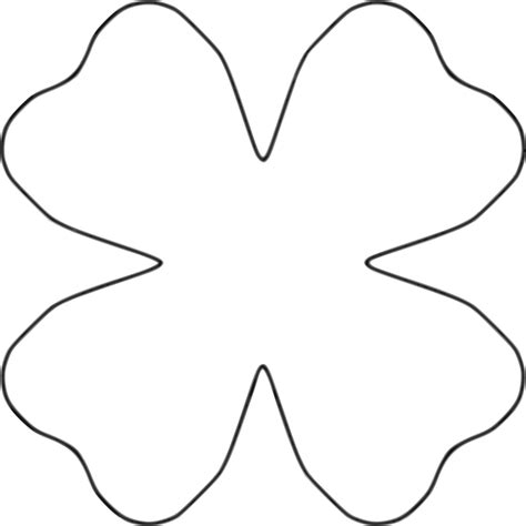four petal flower template