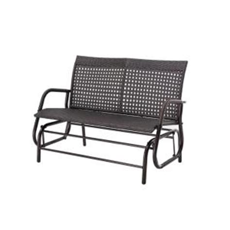 home depot paint glider sunjoy steel brown patio glider 110207034 the home