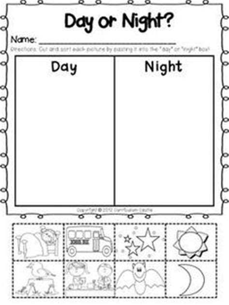 day and night coloring page for kindergarten 1000 images about pajama day sleepover ideas pre k on