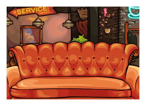 central perk couch central perk sofa hereo sofa