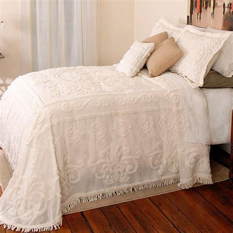 twin coverlet size louisa ecru chenille twin size bedspread overstock