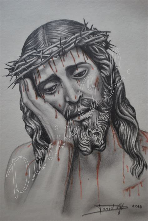 dibujos a lapiz de cristo dibujos a lapiz cristo de la humildad de mairena del alcor david g 243 mez