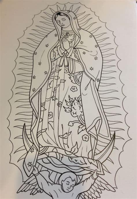 tattoo sketchbooks sketch la virgen de guadalupe