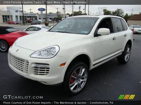sand white  porsche cayenne turbo  black