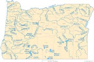 map of with cities and rivers map of oregon
