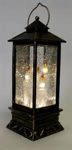 Led christmas lantern 27cm water globe spinner triple candle warm