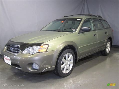 green opal car 2007 willow green opal subaru outback 2 5i wagon 26505459