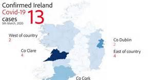 coronavirus ireland map shows    confirmed