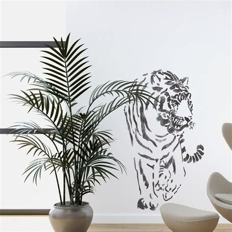 wall stencils templates wall stencils tiger large stencil template for wall