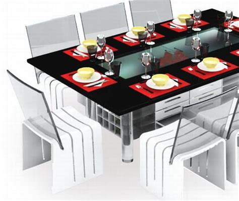dining table with storage underneath ego dining table set becomes storage to utilize idle space underneath