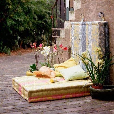 Garten Lounge Gartenecke Gesteppte Matratzen Kissen