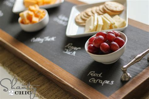 diy chalkboard tray how to make a chalkboard serving tray shanty 2 chic