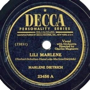 lili marlene testo italiano musica memoria note alle covers lista n 4