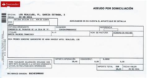 banco de recibos tercera opini 243 n tributos de tenerife y los recibos