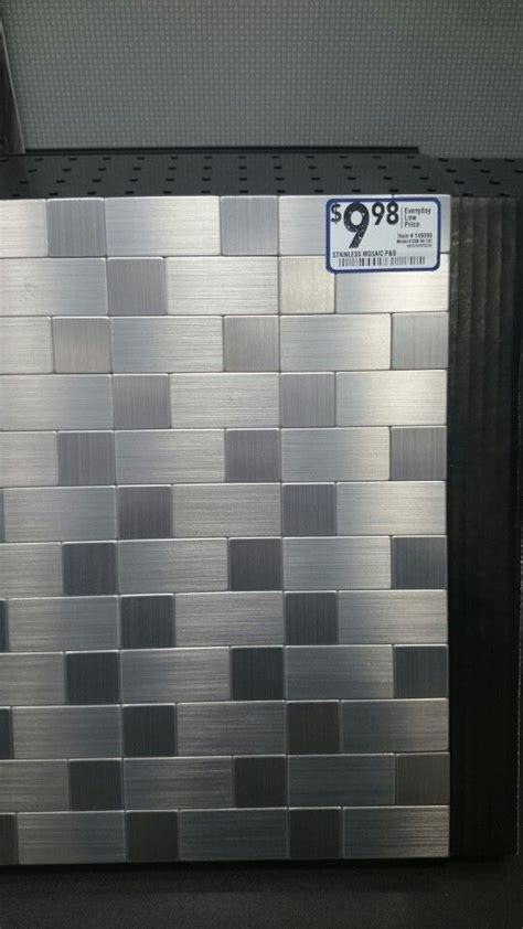 stainless steel backsplash lowes the world s catalog of ideas