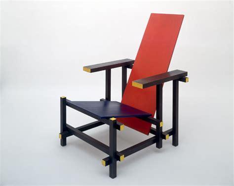chaise rietveld mondrian de stijl