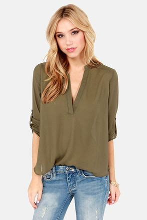 which olive is best olive green top v neck top olive top 37 00