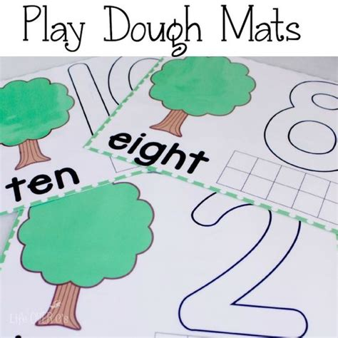 Play Doh Number Mats by Free Printable Tree Play Dough Counting Mats 1 10 4 Year