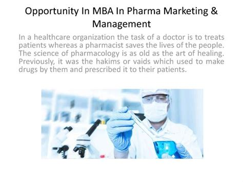 Pharma Mba In Usa by Importanat Fact About Mba In Pharma Marketing Management