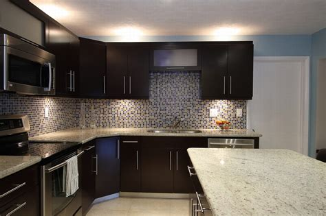 dark kitchen cabinets with backsplash alluring replacement colonial white granite countertop