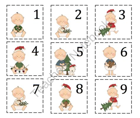 printable christmas number cards preschool printables november 2013