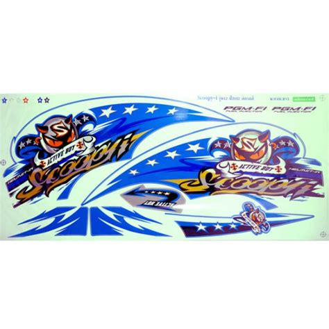 Decal Striping Custom Scoopy sticker scoopy inject active boy 2012 12