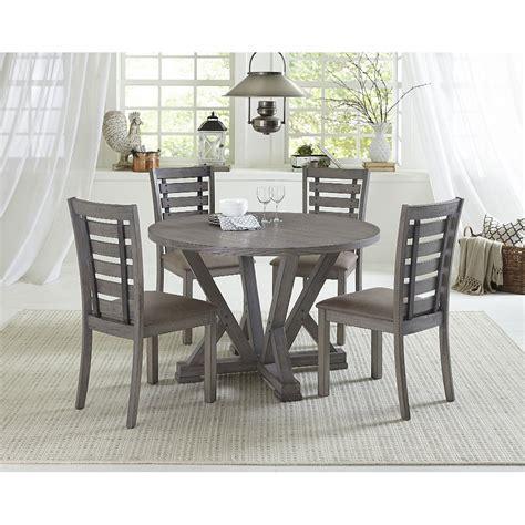 distressed gray   piece dining room set fiji