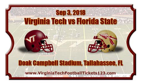 Tech Vs State Mba by Virginia Tech Hokies Vs Florida State Seminoles Football