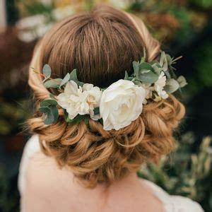 a gold sprayed flower crown wedding hairstyles photos silk flower hair accessories