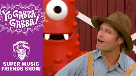 josh holloway yo gabba gabba on the farm farmer josh the gabba