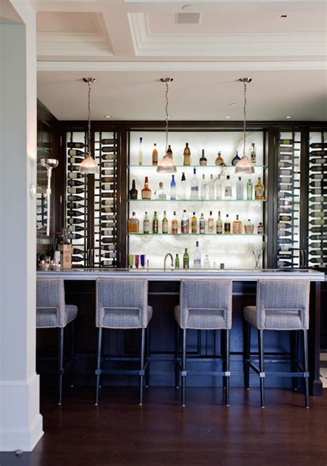 home bar interior onyx backsplash contemporary basement jackson