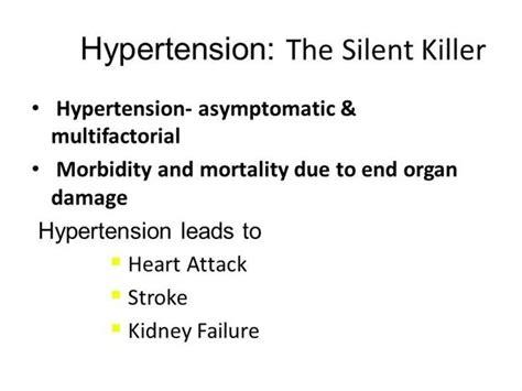 Hypertension Authorstream Morbidity And Mortality Presentation Template