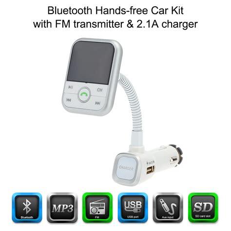 Best Seller Free Ongkir Bluetooth Car Charger Fm Transmitter Multifun aliexpress buy kkmoon 2 1a fm transmitter bluetooth car kits usb sd aux in phone