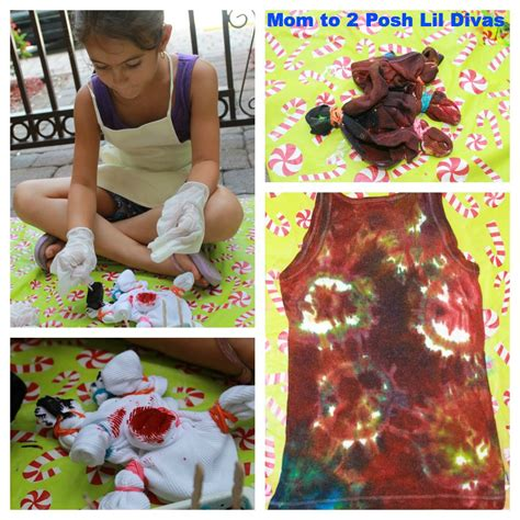 how to tie dye a shirt with food coloring this is the oldest divas tie dye shirt it came out pretty