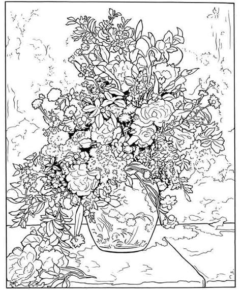 floral inspirations a detailed floral coloring book books color your own renoir paintings coloring pages