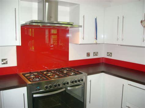 Kitchen Glass Upstands made to measure coloured glass splashbacks