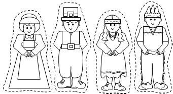 Patties Classroom Thanksgiving Pilgrims And Indians Thanksgiving Finger Puppet Templates
