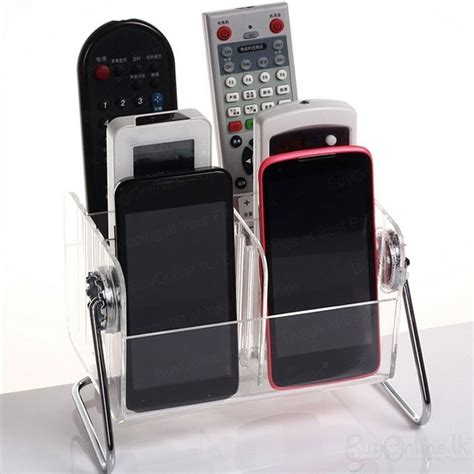 remote control phone holder organizer