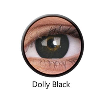Dolly Black colourvue 174 bigeyes dolly black color lenses