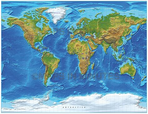 royalty free world map digital vector royalty free world relief map in the gall