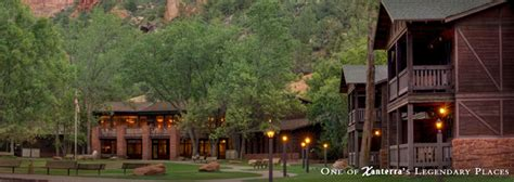 Cabin Style Houses Zion Lodge Springdale Utah Historic Hotels Of America