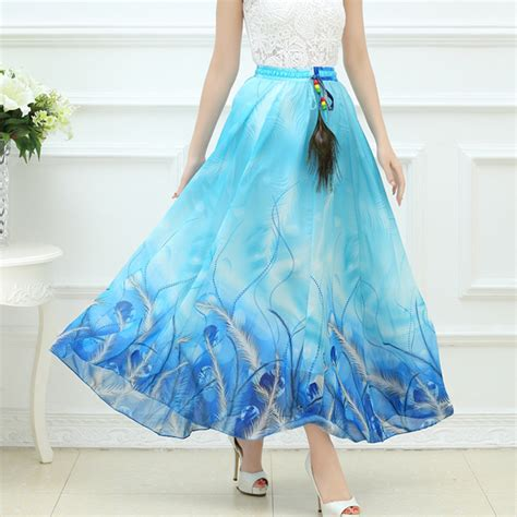 high quality 2017 summer bohemian skirts maxi