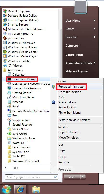 xp configure command without mssql how to open a elevated command prompt in windows 7
